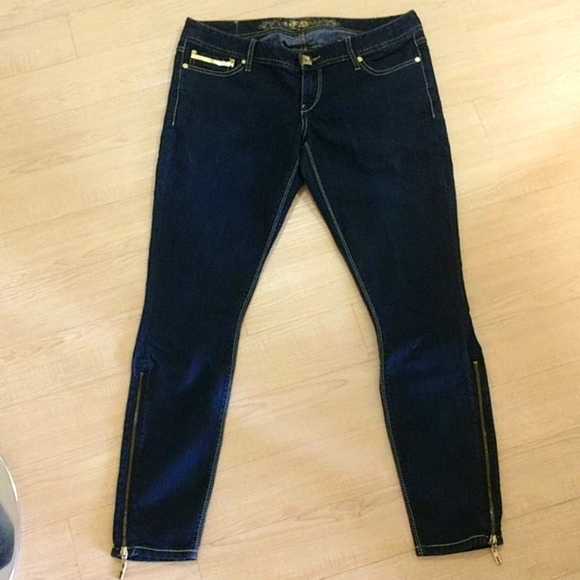 Express ultra low rise skinny jeans. Gold Accents